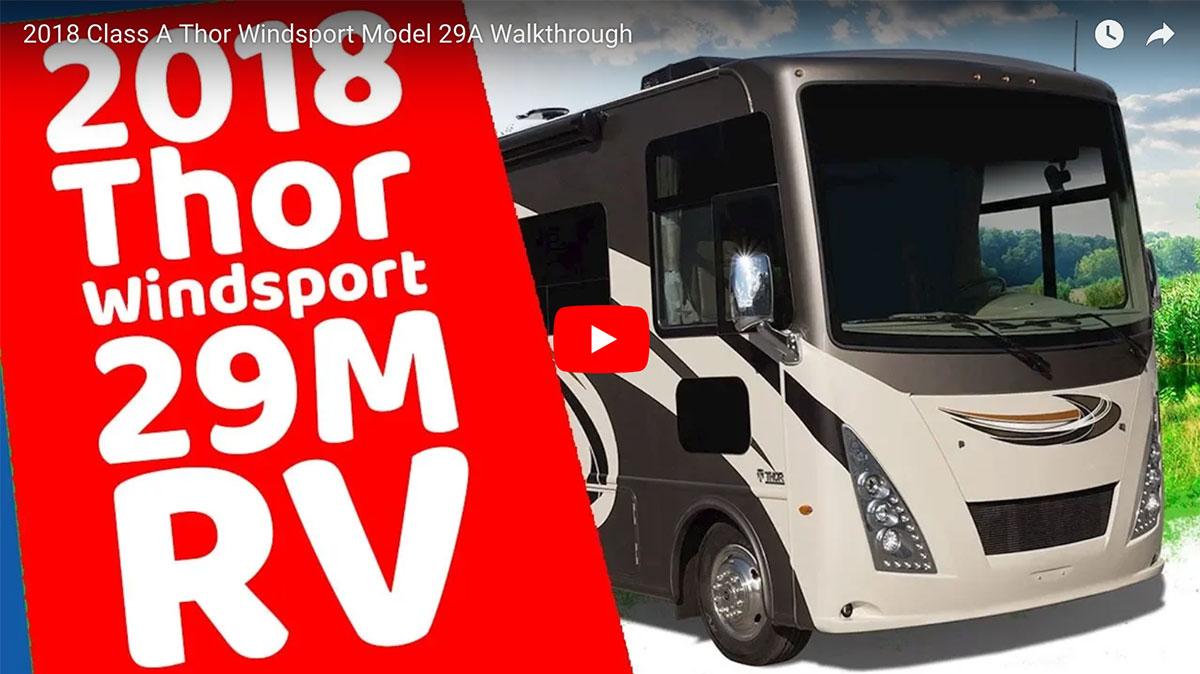 2018 Class A Windsport Model 29M Video Walkthrough