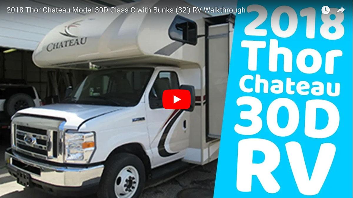 2018 Thor Chateau Model 30D Video Walkthrough