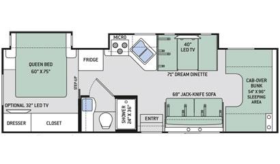 2018 thor chateau model 29g 30 class c rv b b rv for Chateau rv floor plans