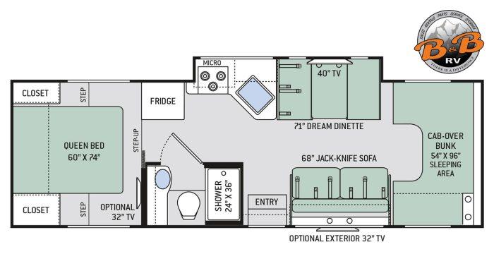 Thor Chateau Class C RV 28Z Floorplan