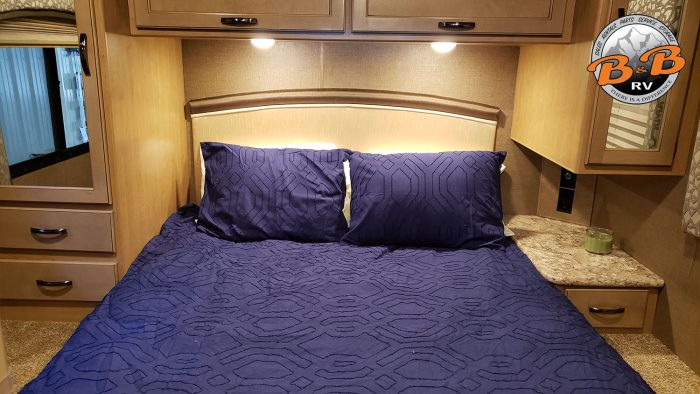 Thor Chateau Class C RV 28Z Master Bedroom