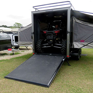 Intech toy hauler travel trailer