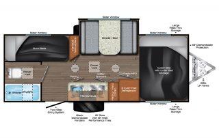 Falcon 24BH Trailer Floorplan Full Size