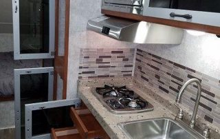 Falcon 24BH Trailer Kitchen Open Cabinets Full Size