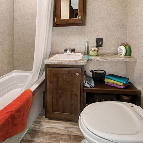 bathroom shasta oasis travel trailer large