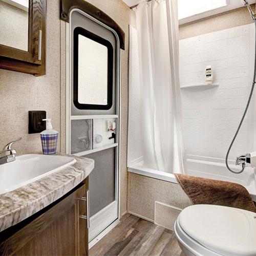 bathroom shasta revere travel trailer