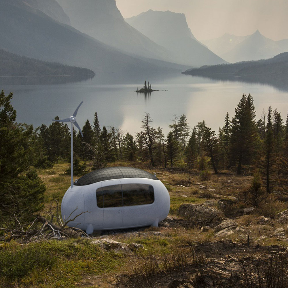 Ecocapsule In Mountains
