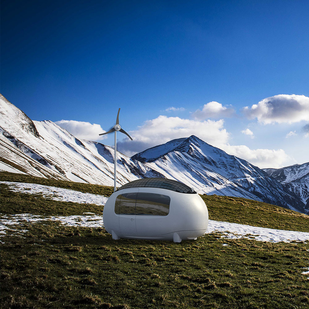 ECOCAPSULE on a mountain