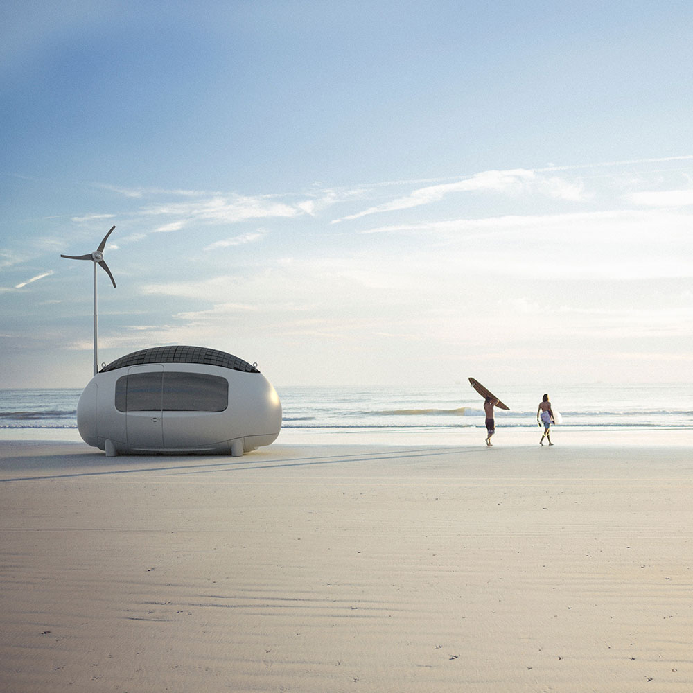ECOCAPSULE on a beach