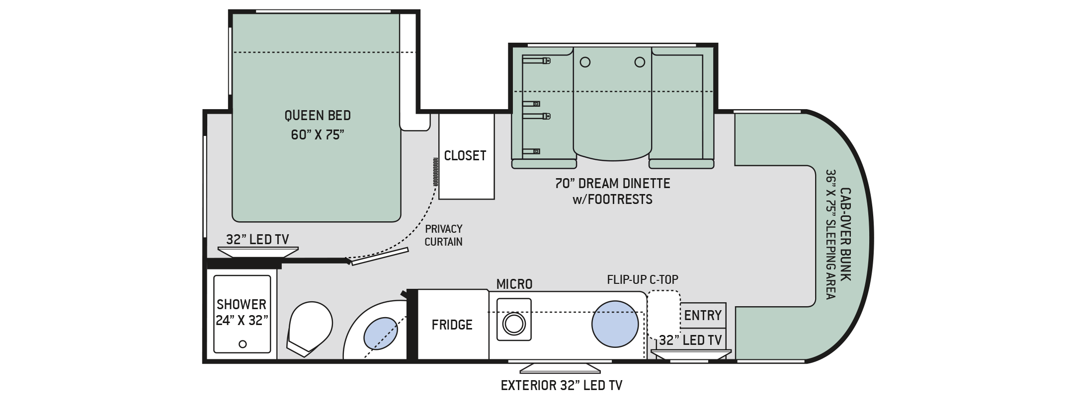 Mercedes Citation 24SS Floorplan