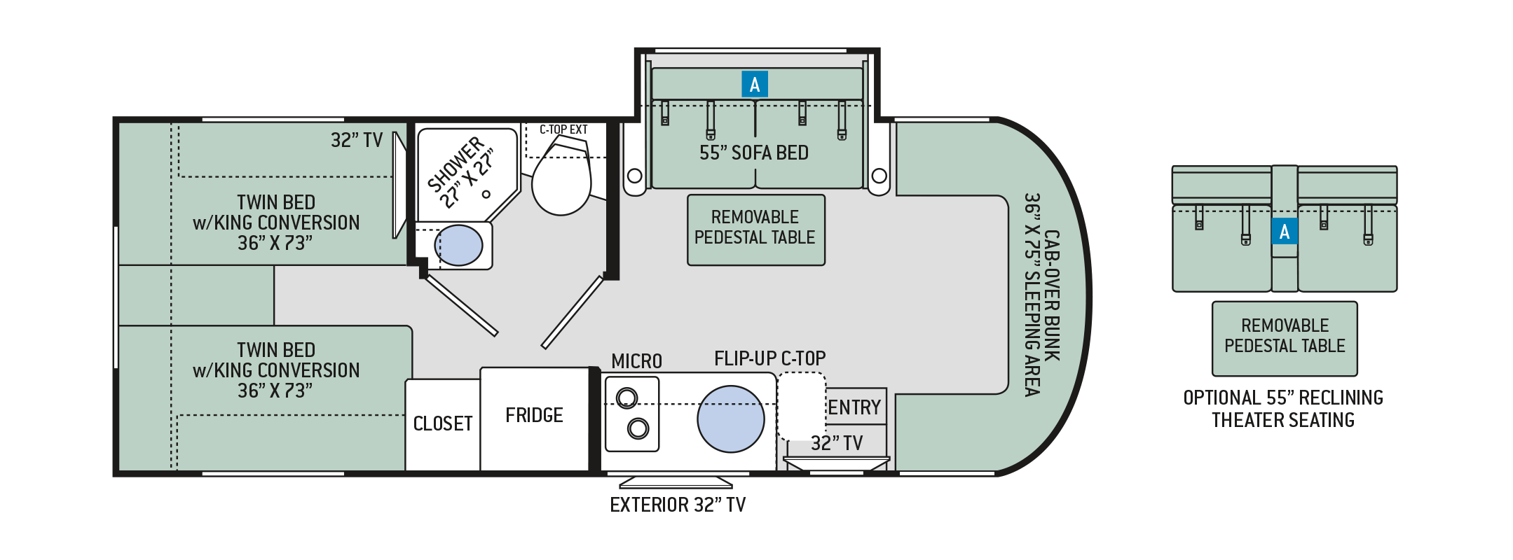 Mercedes Sprinter Floor Plan: Luxury Mercedes RV Rentals Denver