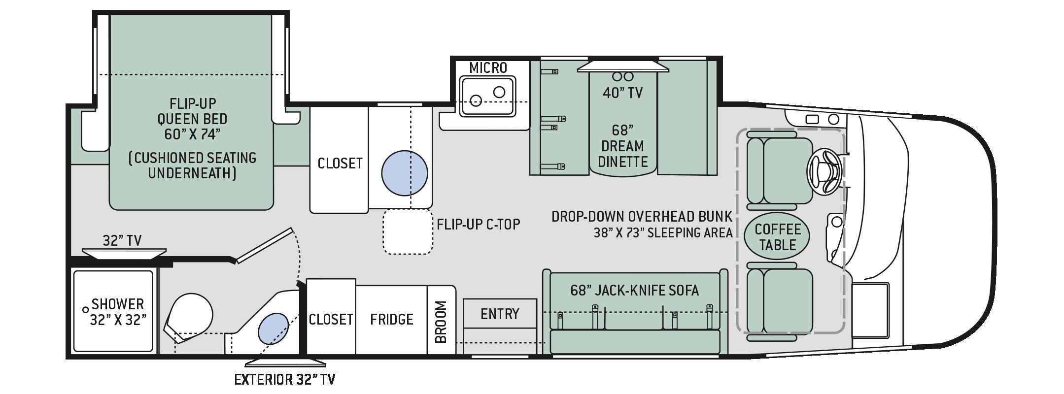 Thor Vegas 28 Floorplan