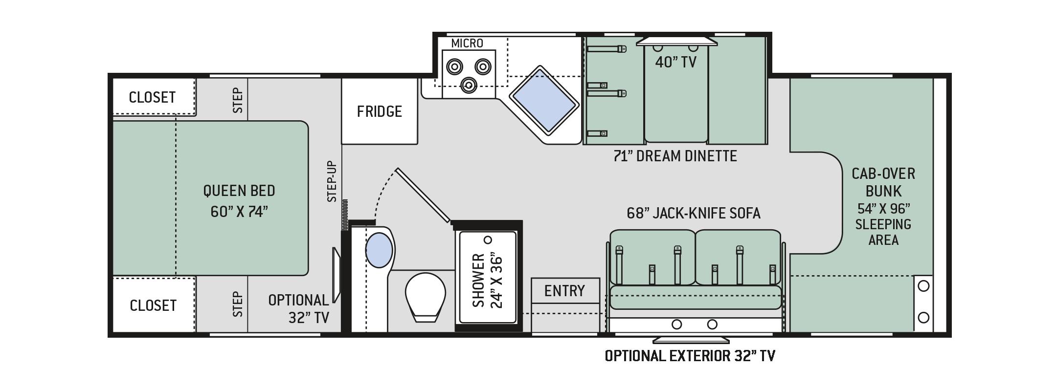 Thor Chateau 28Z Floorplan