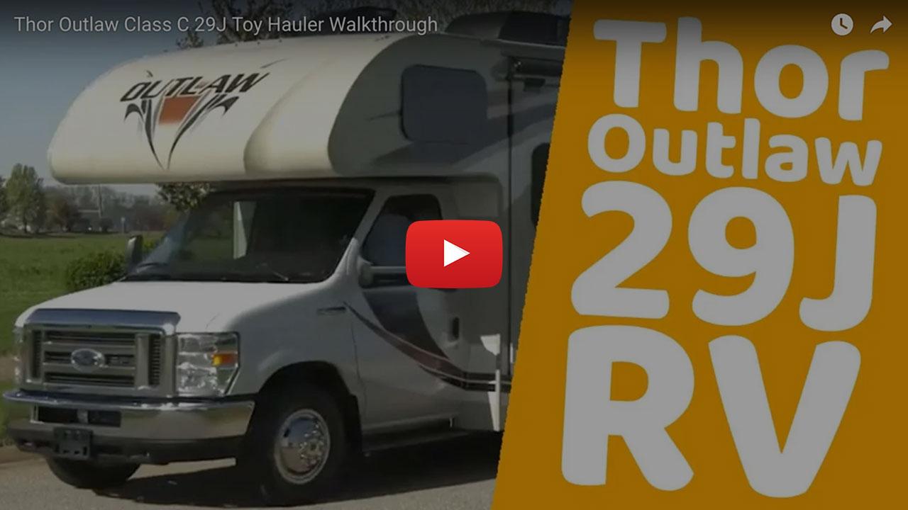 31 Class C RV Rental Toy Hauler w 1 Slide 29J Video Walkthrough