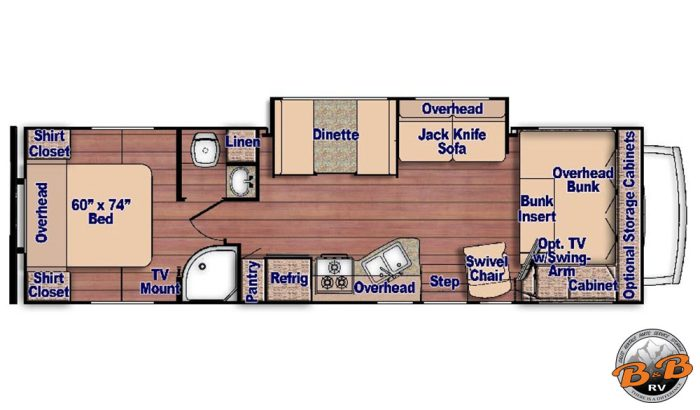 31 Inch Class C with 1 Slide 31G Floorplan