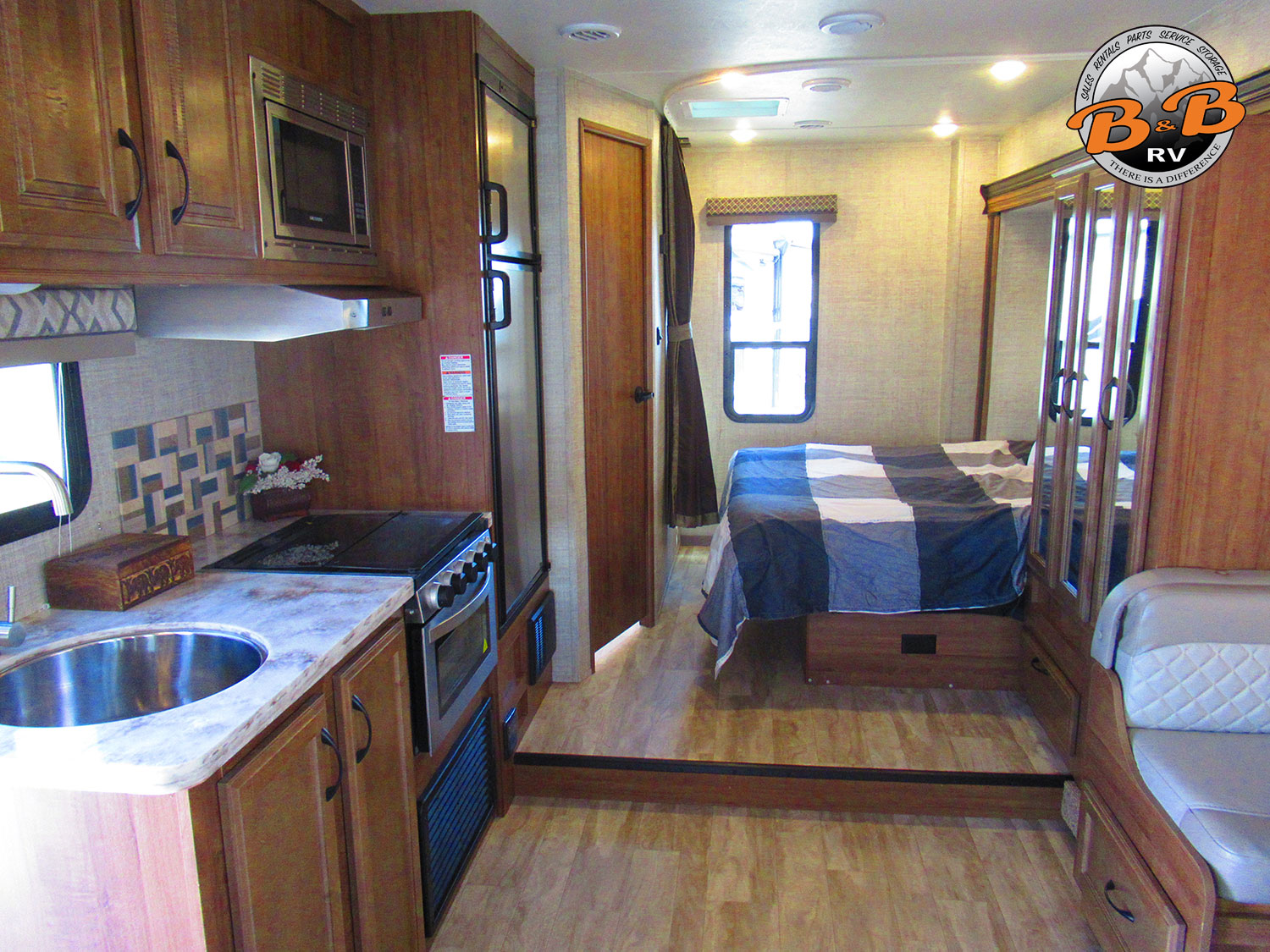 2020 Gulf Stream Conquest 6245 Kitchen to Bedroom