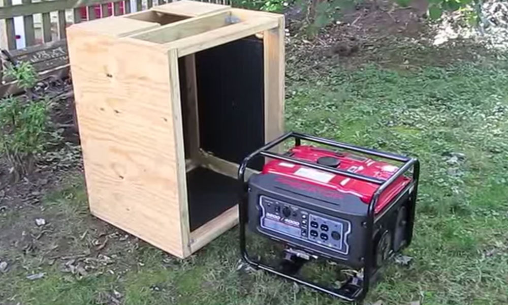 Baffle Box for how to quiet a generator