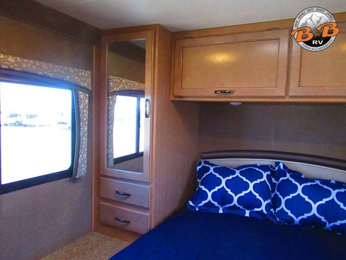 2019 Thor Chateau 28Z Master Bedroom Storage