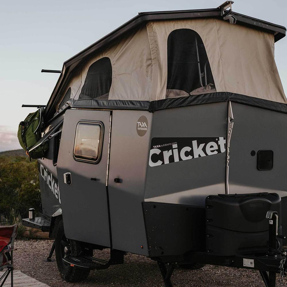 Taxa Cricket Trailer Camper Setup